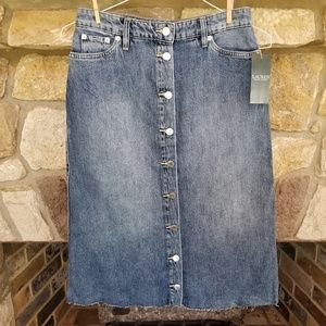 Lauren Ralph Lauren Denim Stretch Skirt Size 0